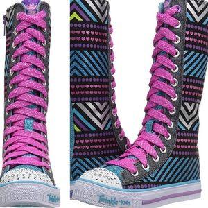 Girl's Skechers Twinkle Toes High Top Sneakers